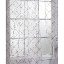 Sheer Curtain Panels 96 Inches by Lattice White Embroidered Organza 96 Inch Sheer Curtain Panel