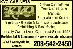 kvo cabinets inc ammon id 83406 yellowbook