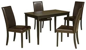 5-Piece Rectangular Table Set With Brown Chairs By Signature ... 54 Pub Sets Tall Bar Tables And Chairs High Top Table Mix Match 9 Piece Counter Height Ding Set By Coaster At Dunk Bright Fniture 5 Details About 4 Wood Kitchen Dinette Room Breakfast Basil Luckyermore Rustic Wooden And For Small Spaces Camelia Espresso Stool Crown Mark Del Sol Black 5pc Sunny Designs Metro Flex Delightful Style Walmart Stools