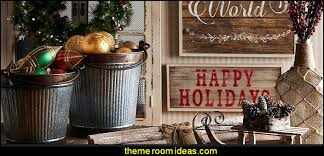 Rustic Christmas Decorating Decorations Ideas