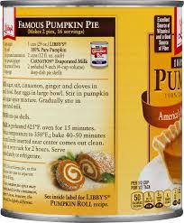 Pumpkin Pie Pulp Fiction by Libby U0027s 100 Pure Pumpkin 29 Oz Can Walmart Com
