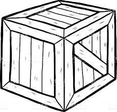Container Clipart Wooden Crate 3