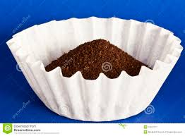 Coffee In Filter On Blue