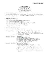 Part Time Resumes College Work