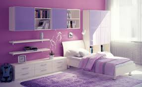 Contemporary Bedroom Ideas For Teenage Girls With Purple Colors Theme And Beautiful Carpet Decoration