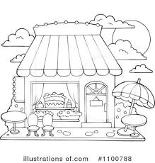 Bakery Black And White Clipart