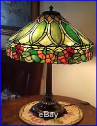 Duffner And Kimberly Lamp Base by Antique Old Duffner U0026 Kimberly Leaded Slag Stained Glass Tiffany