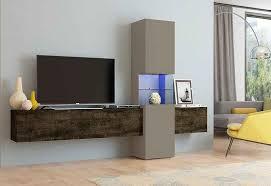 tecnos wohnwand set 3 tlg 1 lowboard 1 vitrine 1