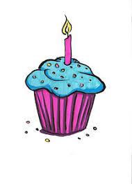 Cupcake Drawing Birthday Cupcake by Rachel Marquez