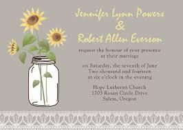 Invitations EWPI134 Rustic Sunflower Mason Jars Gold Pocket Wedding Invite
