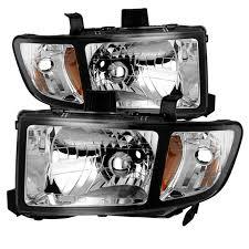 06 14 honda ridgeline replacement headlights black