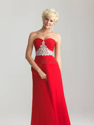 cheap red strapless dress kzdress