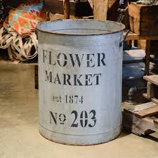 Metal Flower Market Bucket