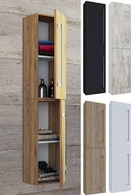 vcm hochschrank badmöbel badschrank badezimmerschrank vcb 6 große drehtür holz badmöbel hochschrank vcb 6 drehtür farbe honig eiche