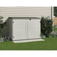 Rubbermaid Horizontal Storage Shed Home Depot by Suncast Stow Away 3 Ft 8 In X 5 Ft 11 In Resin Horizontal