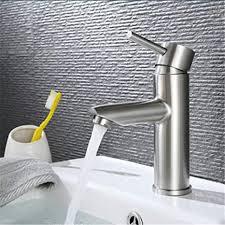 aigoo badarmaturen edelstahl matt waschtischarmatur edelstahl gebürstet einhebelmischer mischbatterie bad waschbecken armaturen badezimmer wasserhahn
