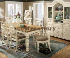 Ortanique Dining Room Table by Ashley Ortanique D707 03 Millennium Antique White Dining Side