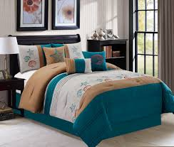Queen Size Bed In A Bag Sets by Piece Seashell Teal Brown Gray Bed In A Bag Set