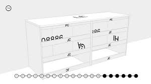 Ikea Hemnes Dresser 6 Drawer Instructions by 70296 Naia Large Dresser Assembly Youtube