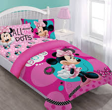 Minnie Mouse Bedroom Set Full Size by Amazon Com Disney Minnie Dreaming In Dots Full Comforter Set W
