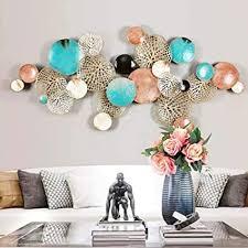 de fxqin geometrische metallwandkunst für wohnzimmer