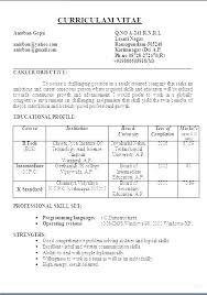 Resume Format Of Teacher Example A Teachers For