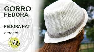 Tutorial Gorro Fedora Uni Crochet o Ganchillo Hat English