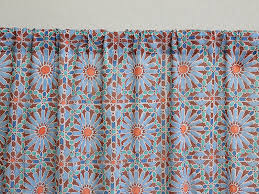Moroccan Tile Curtain Panels by Moroccan Tile Print Sheer Curtain Panel Moroccan Curtain Panel