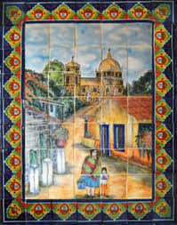 best 25 rustic tile murals ideas on mexican style