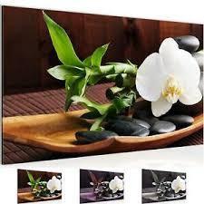 details zu wandbild modern wohnzimmer feng shui orchidee braun grün abstrakt bilder
