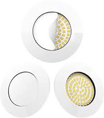 scandinavian home 3er set led einbaustrahler weiß glänzend 60mm 70mm i badezimmer geeignet i warmweiß 230v cri 90 5w 500lm 3000k 68mm i mit