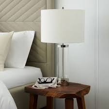 West Elm Overarching Floor Lamp by Master Bedside Lamps Acrylic Column Table Lamp Polished