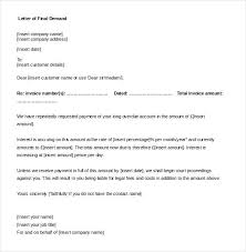 Final Invoice Sample Editable Final Demand Letter Template Word Doc