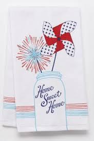 Americana Home Sweet Mason Jar Kitchen Towel
