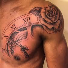 Shoulder Rose Tattoos For Men