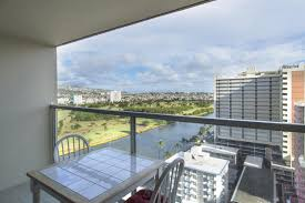 Blue October 18th Floor Balcony by Apartment Island Colony Studio 2015 Honolulu Hi Booking Com