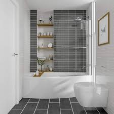 Sienna Space Saver Shower Bath With Front Panel Screen 1695mm X 695mm