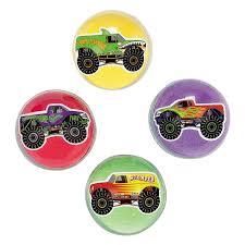 100 Balls On Trucks Fun Express Inc Monster Truck Bouncing 1 Dozen Bulk