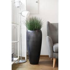 pflanzkübel pflanzgefäß exklusiv deluxe silber anthrazit seidenmatt 37x81 cm