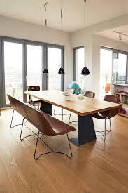 design sitzbank aus feinstem leder esszimmertisch