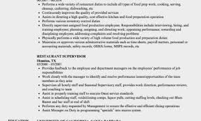 Simply Restaurant Manager Skills Resume Supervisor