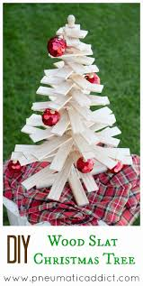Tabletop Live Christmas Trees by Learn To Make Your Own Diy Wood Slat Christmas Tree Tutorial And