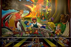 denver international airport murals pictures is there an apocalypse bunker the denver airport