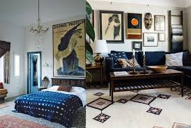 A 1920s French Poster Hangs Above The Bed In Main Bedroom Of Maryam Montague And Chris Redeckes Home Countryside Marrakesh Via House