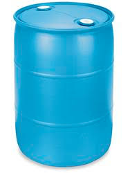 null 55 Gal Black Industrial Plastic Drum