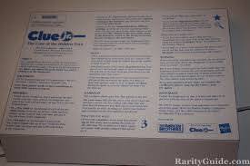 Clue Jr Parker Brothers Hasbro 1999 Rules