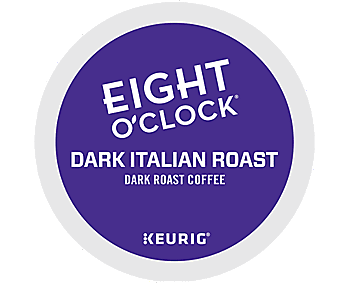 Eight O'Clock Dark Italian Roast Morning Coffee K Cups - 24ct