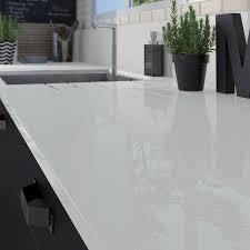 plan de travail cuisine en verre plan de travail blanc laqu avec gallery of cuisine blanc brillant