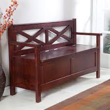 Wood Bench Plans With Storage by Harper X Back Storage Bench Wenge Dark Wood Walmart Com
