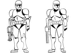 Star Wars Clone Army Coloring Page For Children